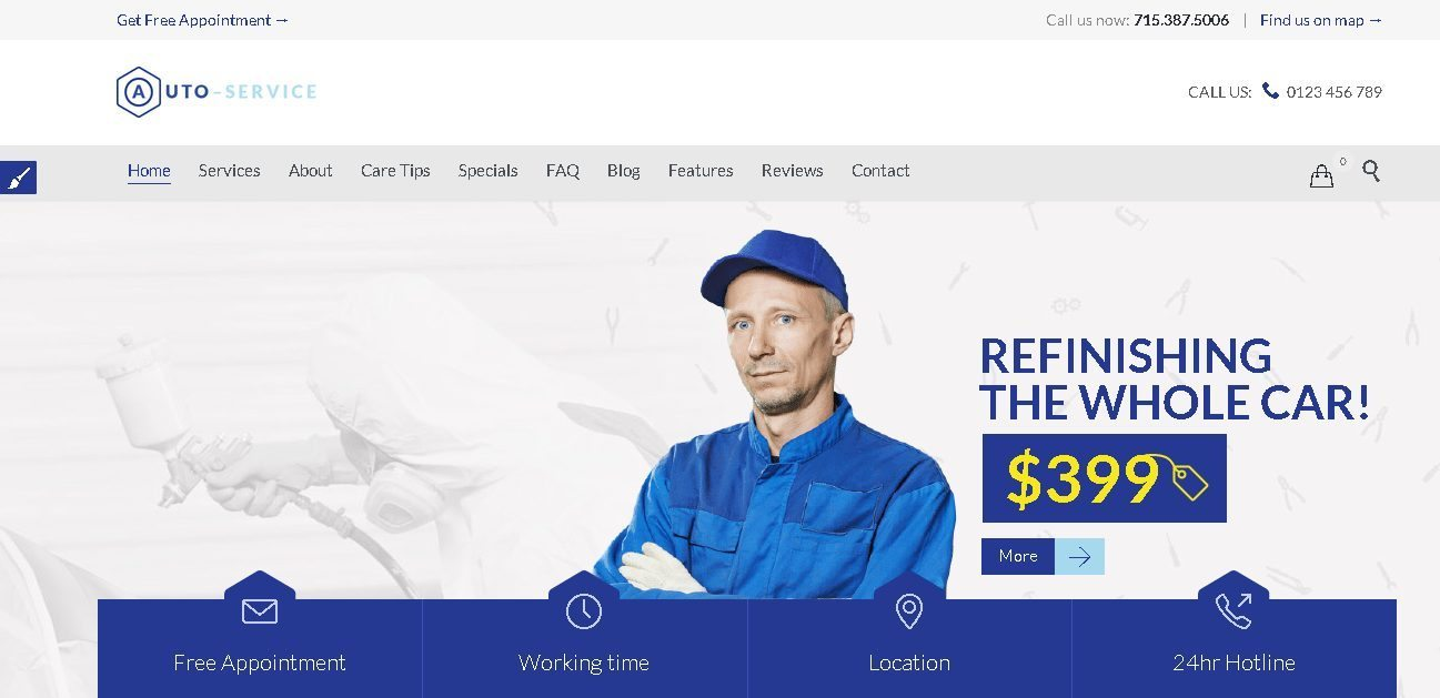 Auto Car Repair Mechanic Shop Responsive Theme - Best Automotive WordPress Theme