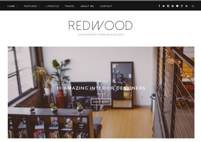 Redwood - one of best WordPress Blog Themes