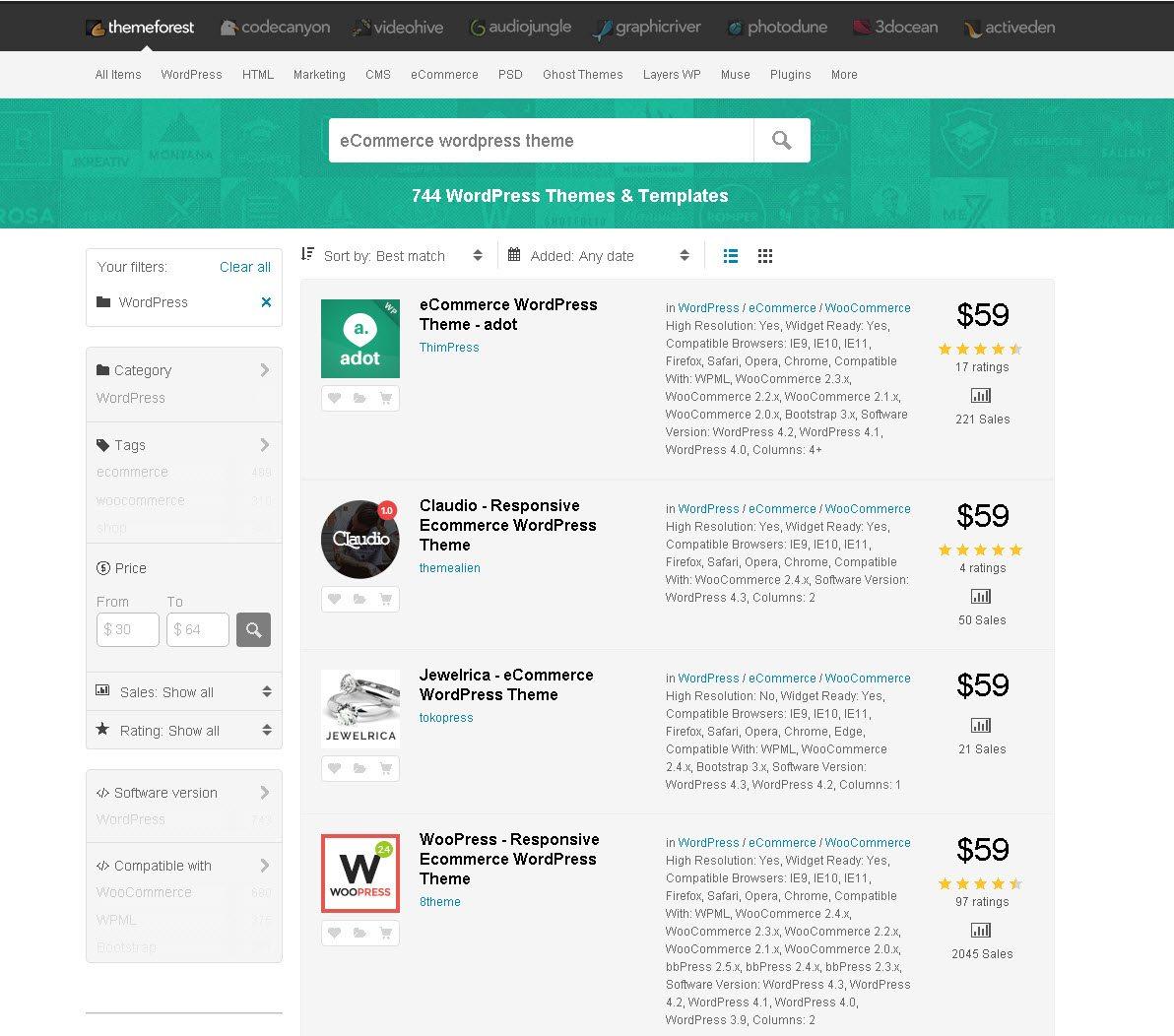 related fields of best premium wordpress theme