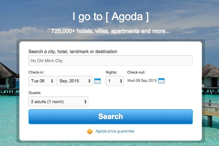 How to build a hotel site with WordPress - Agoda search widget