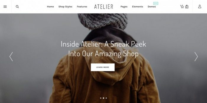 WordPress Theme e-Commerce - Atelier