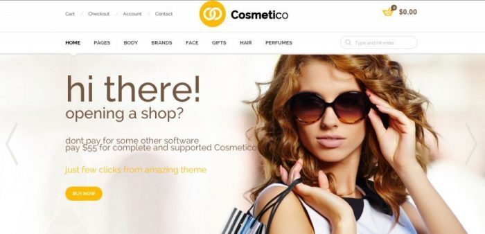 The Best eCommerce WorPress Themes - Cosmetico