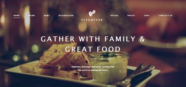 FlyCoffee - Luxury WordPress Restaurant theme