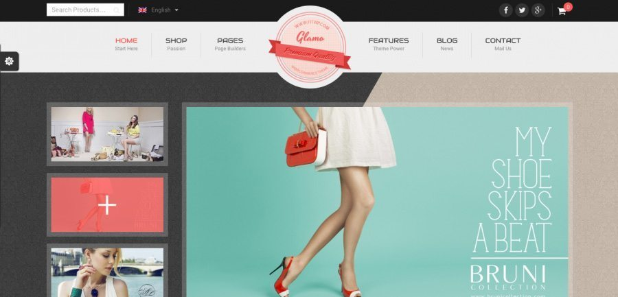 WordPress Online Store Theme - Glamo
