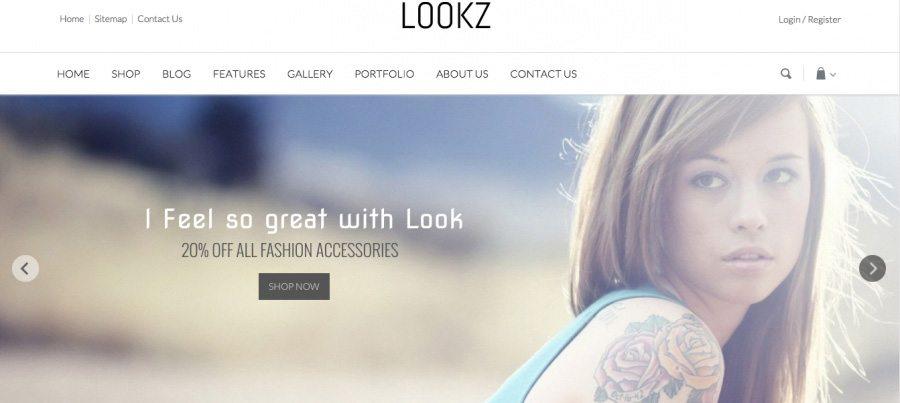 Fresh e-Commerce WP theme - Lookz