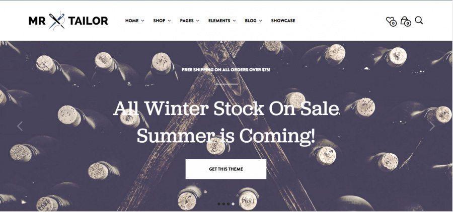 Beautiful e-Commerce WordPress Theme - Mr.Tailor