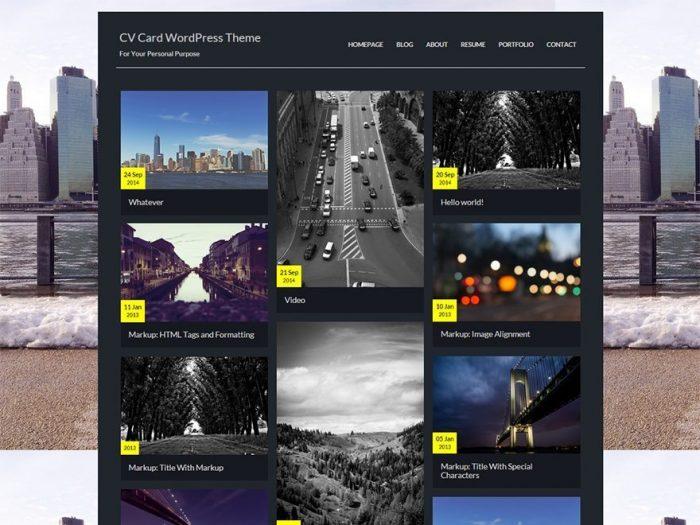 CV Card - Free WordPress Freelancer Theme