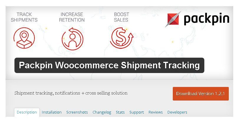 Packpin Woocommerce Shipment Tracking