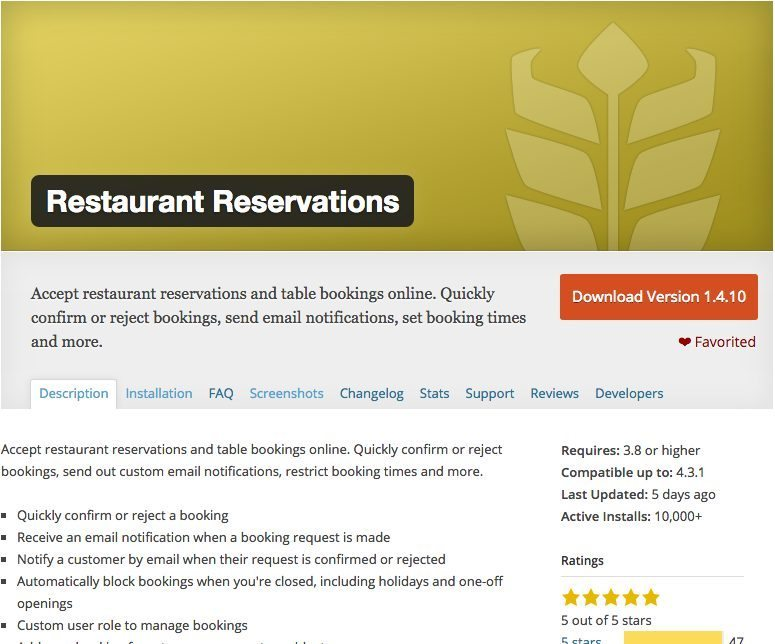 How To Build A WordPress Restaurant Website WordPress Arena - Table reservation in restaurant