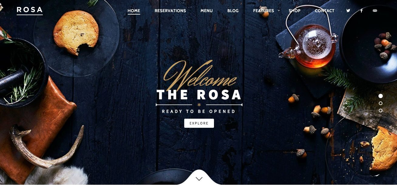Responsive WordPress restaurant theme - Rosa