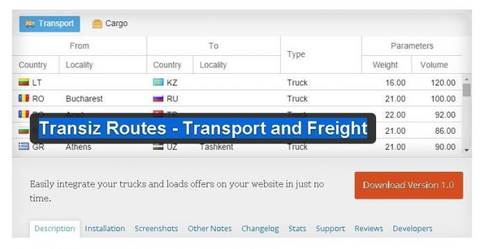Transiz Routes - Transport and Freight