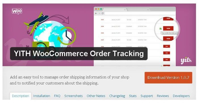 YITH Woocommerce Order Tracking