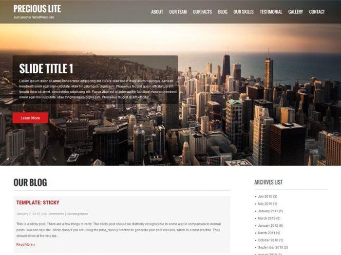 Free WordPress Hotel Theme - Precious Lite