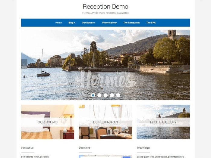 Free Hotel Theme for WordPress - Reception