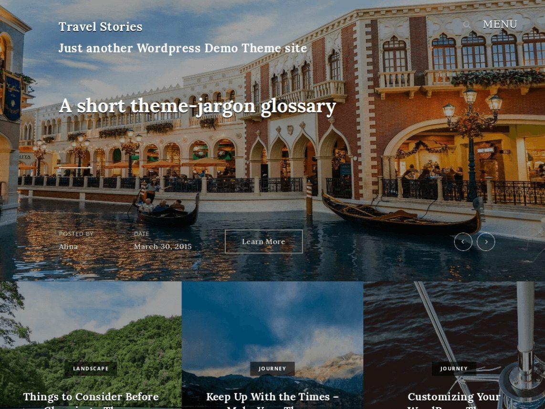 Free WordPress hotel Template - Travel Stories