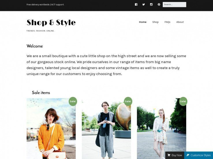 Make - free WordPress eCommerce template