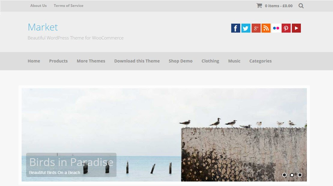 Market - WordPress eCommerce theme free