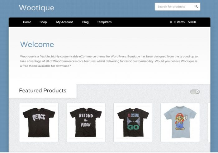 Wootique - Free WordPress eCommerce themes