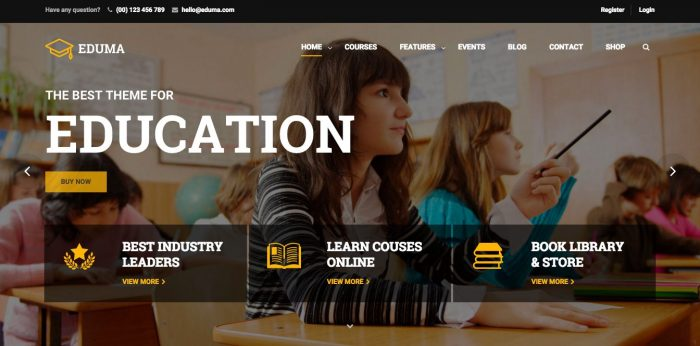 Education WP Theme Review – Popular WordPress Education Theme