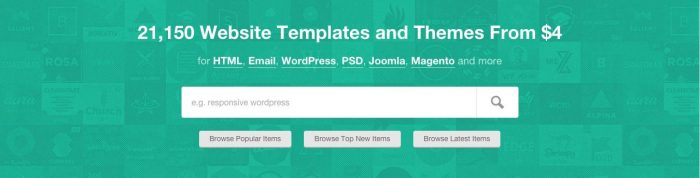 Choose WordPress theme in ThemeForest