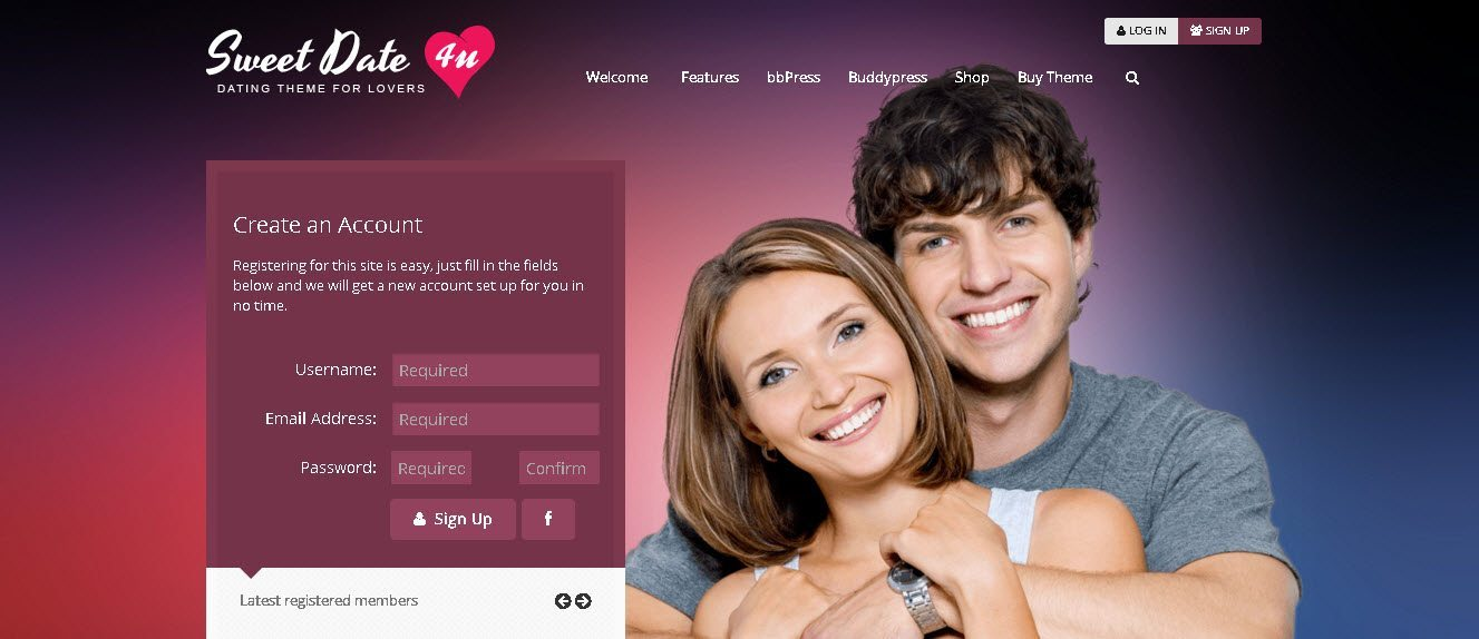 wordpress dating site template