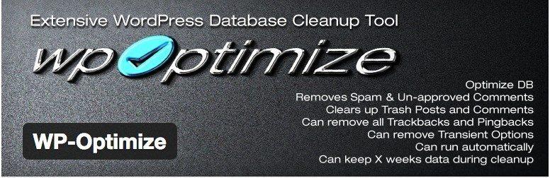 optimize speed of WP site - WP Optimize