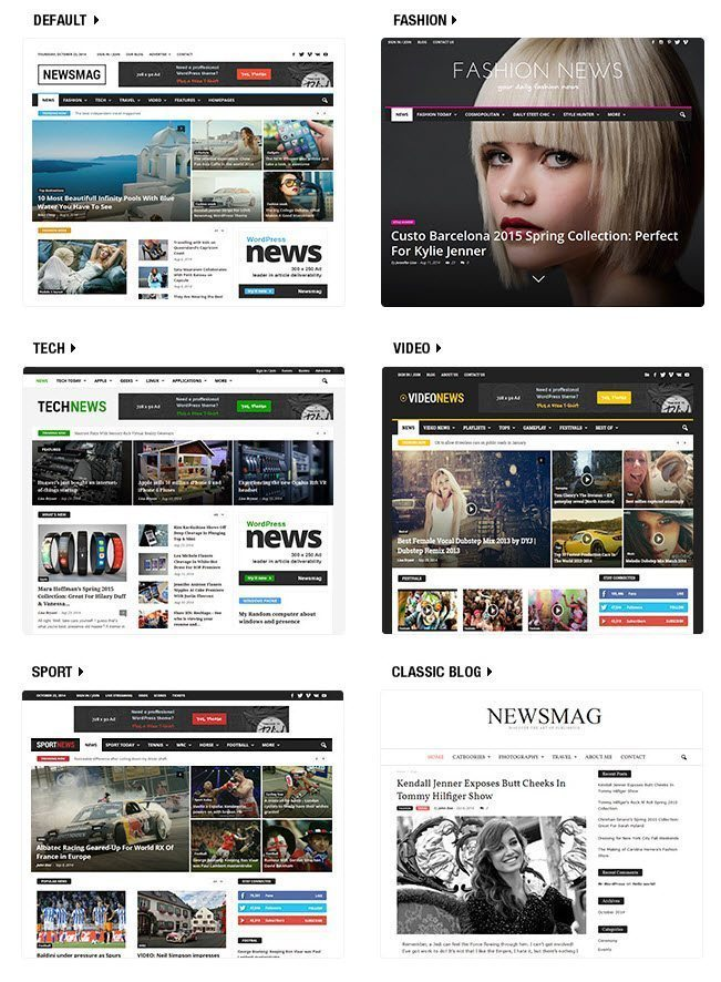 Newsmag Theme Demos