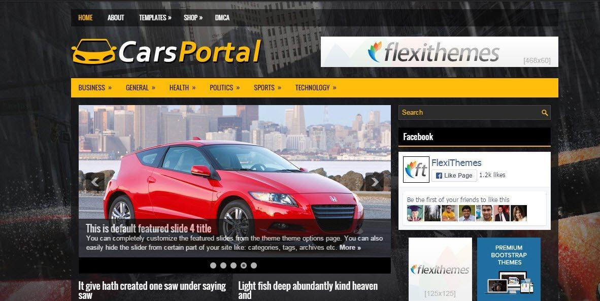 Cars Portal - Automotive WordPress Responsive Theme Free