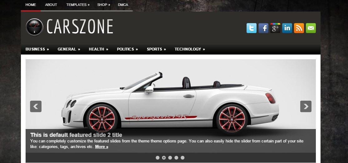 CarsZone - Automotive WordPress Theme Free