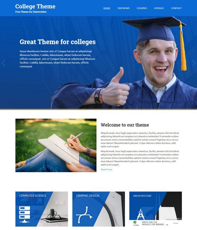 College - A Beautiful design for Educational Theme