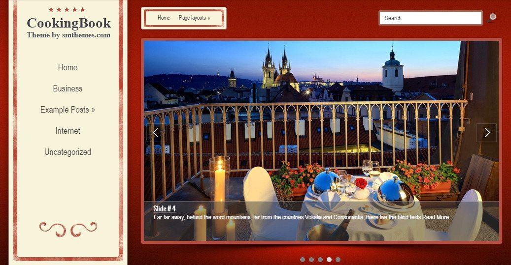 CookingBook - Professional Free Restaurant WordPress Theme