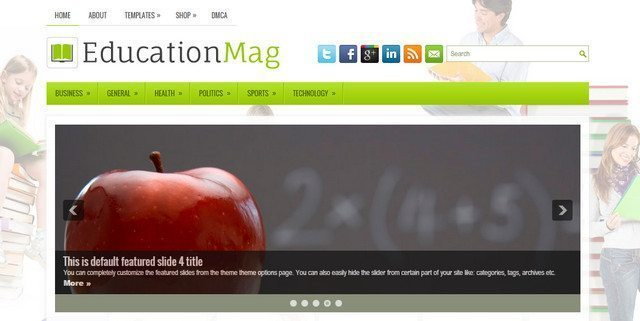 Education Mag - Free WordPress Schools Template