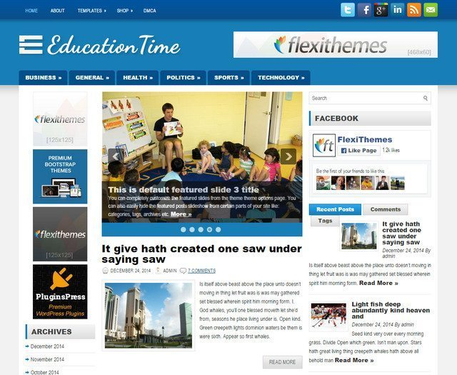 WordPress Education Theme Free Download - Education Time