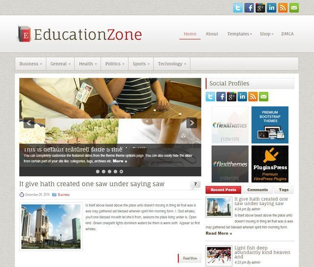 Education Zone - Best Chosen for Education WP Website