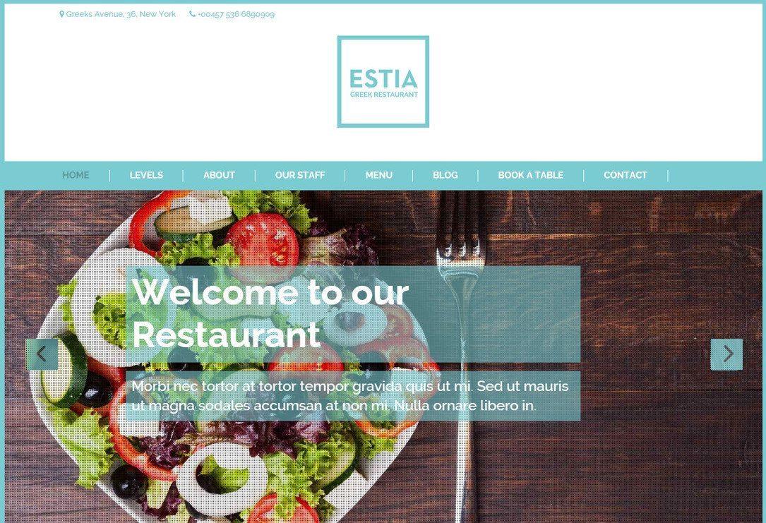 Greek Restaurant - Great Free WordPress Theme Restaurant