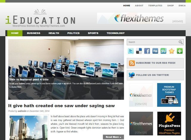 Professional Free Educational WP Theme