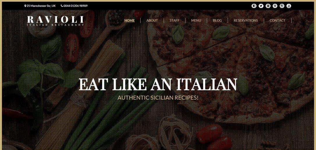 Italian Restaurant - Amazing Cafe & Restaurant WordPress Theme