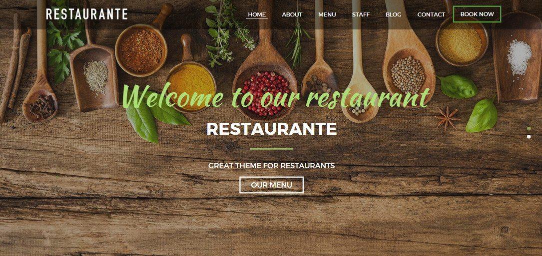 Restaurante - One of The Best free Restaurant WordPress Themes
