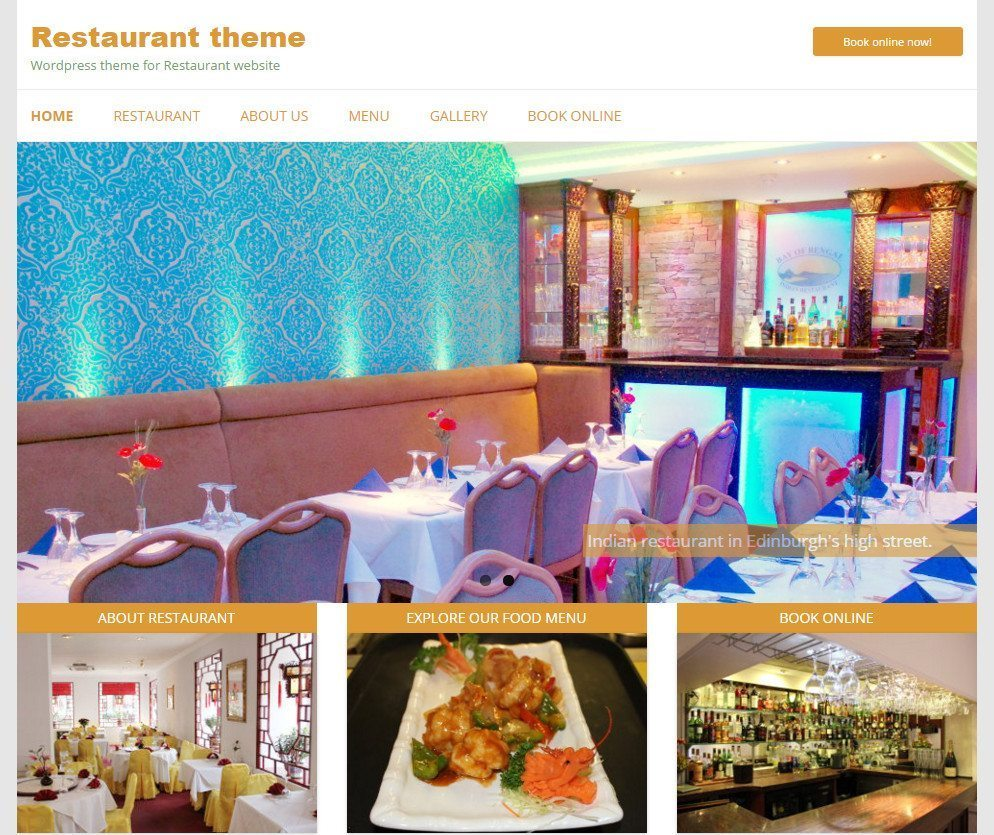 Reataurant - Modern & Fanstatic WordPress Cafe Theme