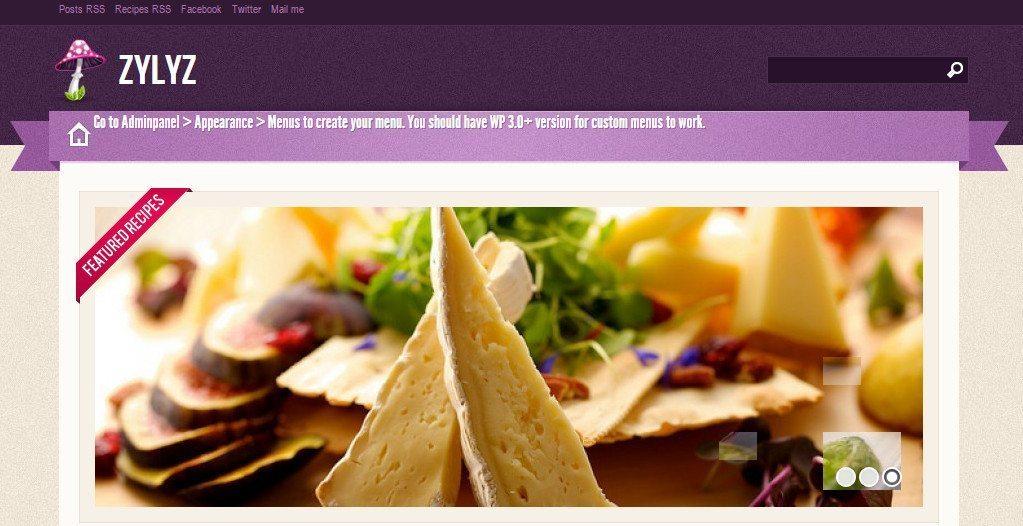 Zylyz Food - Free WordPress Theme for Restaurant