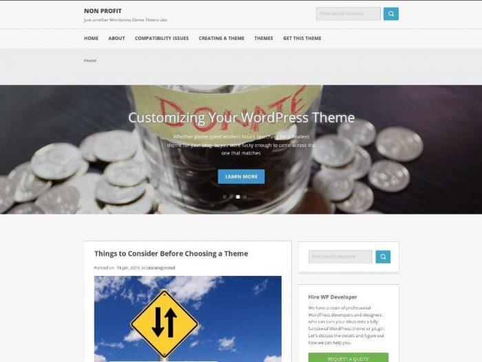 Non profit - Multipurpose WordPress Theme
