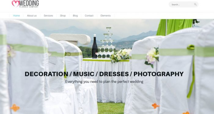 Wedding Planner - WP theme Review