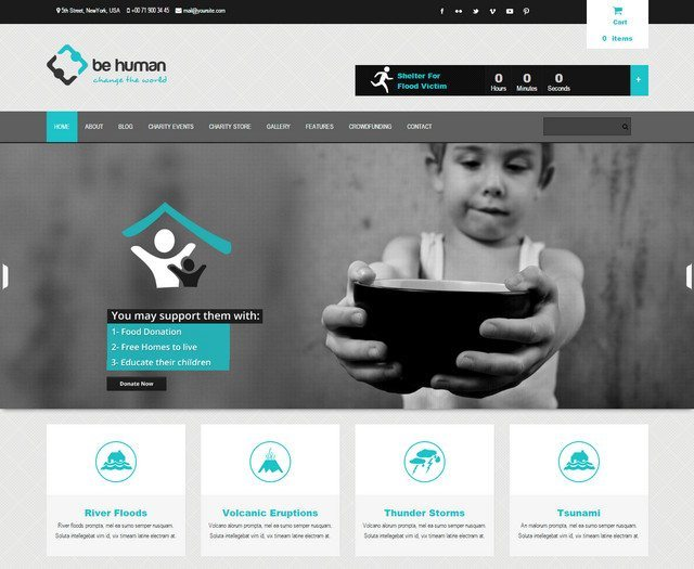 Charity Multipurpose Wp Theme - Be Human