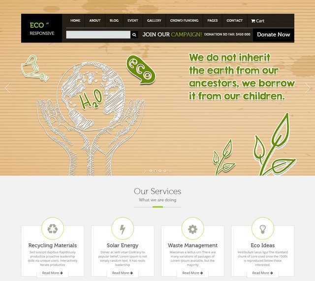 Responsive WordPress Environment Theme - ECO