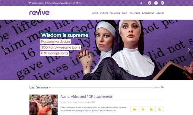 Revive - Amazing Events WordPress Theme