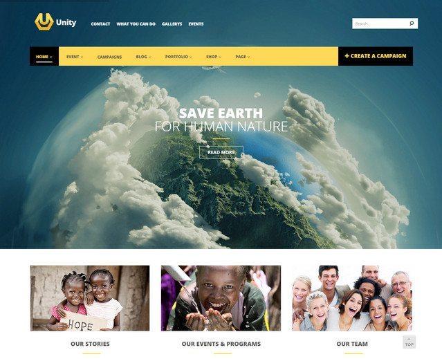 Modern WP Crowdfunding theme - Unity