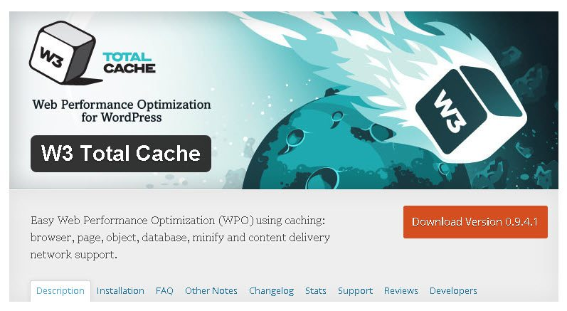 w3 total cache makes your WordPress blog better
