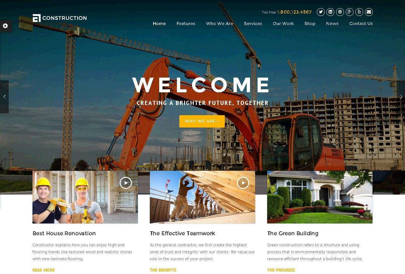 Construction - bussiness theme for construction field