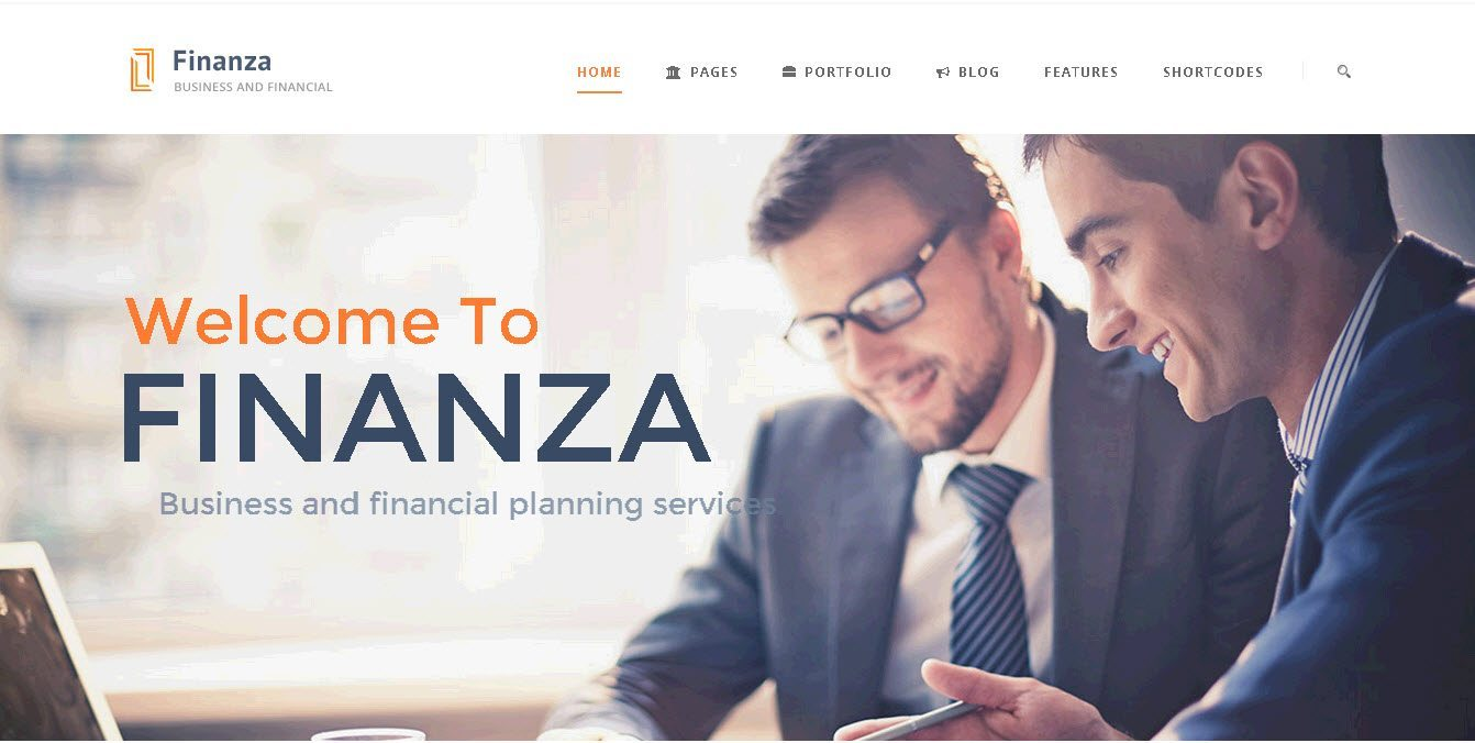 Finanza - WordPress finance theme