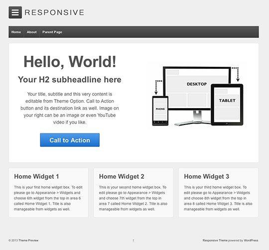 """""""Responsive"""" Theme Review – Awesome Free WordPress Template"""